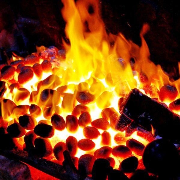 Fire in the Tudor Bar