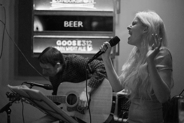 Emma and Simon acoustic night
