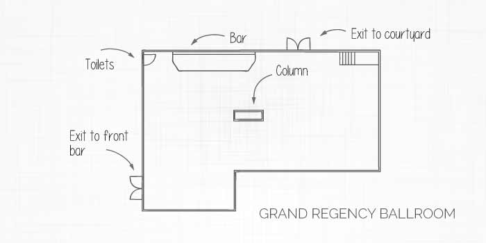 Grand Regency Ballroom Layout