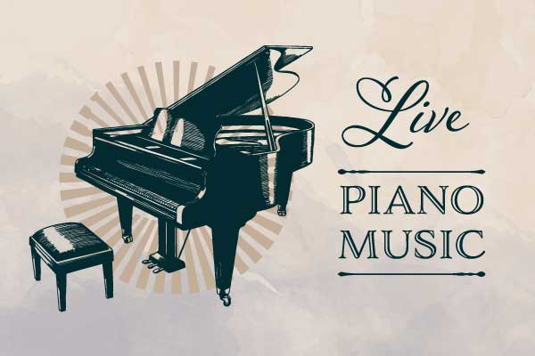 Weekly Live Piano Music Event