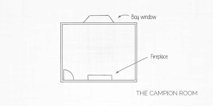 The Campion room layout