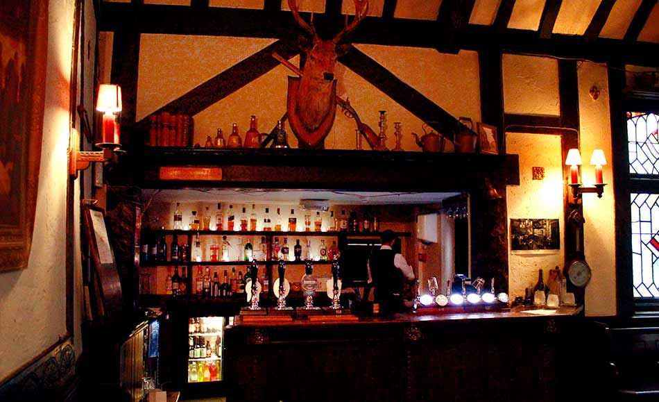 Tudor bar at The Old Bell Hotel